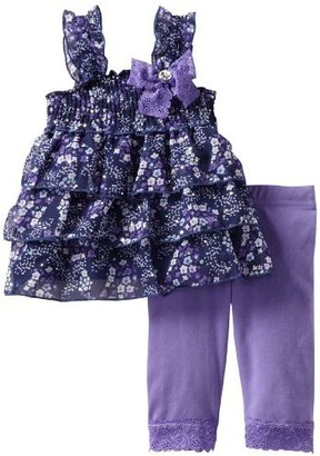 Little Lass Baby-Girls Infant 2 Piece Skimmer Set With Flowers