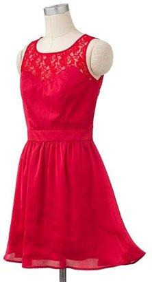Lauren Conrad lace satin dress