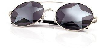 Wildfox Couture Sun Starstruck Sunglasses in Silver
