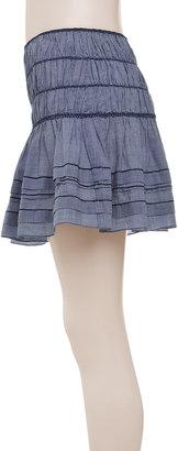 Max Studio Shirred Skirt