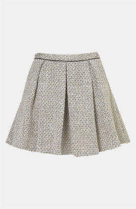 Topshop Pleated Boucle Skirt