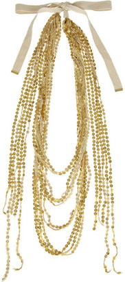 By Malene Birger Tulle and sequin necklace