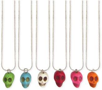 Z Designs Stone Skull Pendant Necklace