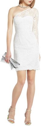 BCBGMAXAZRIA Arlena One-Shoulder Lace Cocktail Dress
