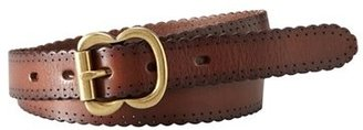 Women's Fossil Scallop Edge Leather Belt $34 thestylecure.com