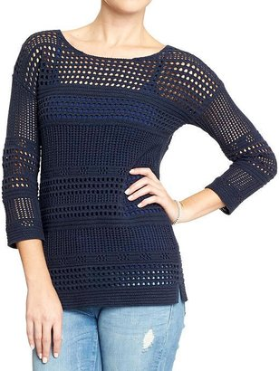 Old Navy Women's Chunky Pointelle-Knit Sweaters