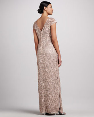Kay Unger New York Sequined & Lace Gown