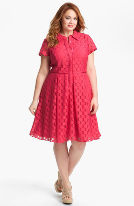 Adrianna Papell Fit & Flare Shirtdress (Plus)