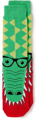 Topman Green Crocodile Pattern Socks