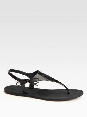 Gucci Katina Rubber Thong Sandals