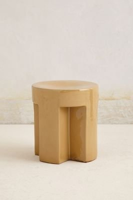 Anthropologie Scalloped Stool