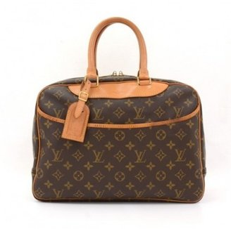 Louis Vuitton very good (VG Brown Monogram Canvas Deauville Large Hand Bag