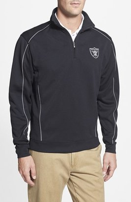 Men's Cutter & Buck 'Oakland Raiders - Edge' Drytec Moisture Wicking Half Zip Pullover $125 thestylecure.com