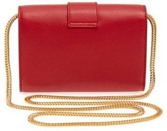 Saint Laurent 'Y Chain - Mini' Leather Handbag - Blue
