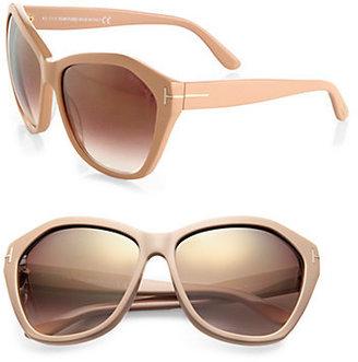 Tom Ford Oversized Round Resin Sunglasses