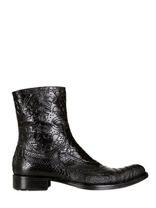 Jo Ghost Tejus, Python, Ostrich & Lambskin Boots