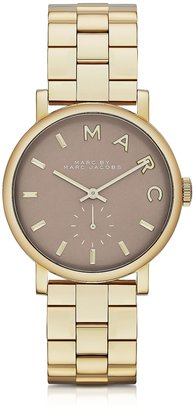 Marc by Marc Jacobs Baker Bracelet 36MM Gold IP Women's Watch $235 thestylecure.com