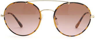 Prada Catwalk Round Aviator Sunglasses