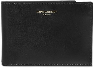 Brushed Calf Leather Classic Wallet $445 thestylecure.com