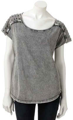 Rock & Republic Rock and republic embellished drop-tail hem tee