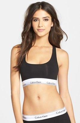 Women's Calvin Klein 'Modern Cotton Collection' Cotton Blend Racerback Bralette $28 thestylecure.com