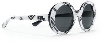 Ralph Lauren Round Pinstriped Sunglasses