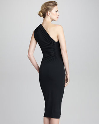 Giorgio Armani One-Shoulder Knit Dress
