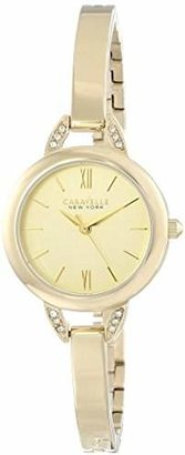 Caravelle New York Women's 44L129 Crystal-Accented Stainless Steel Watch $40 thestylecure.com