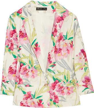 Elizabeth and James Bruce floral-print silk jacket