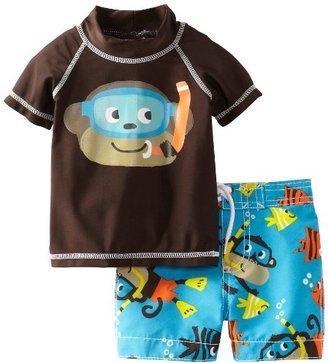 Carter's Baby-Boys Infant Monkey Rash Guard Set
