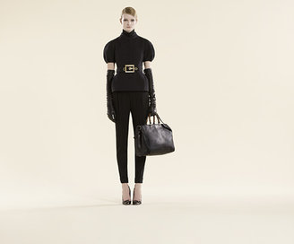 Gucci Black Cashmere Turtleneck Top