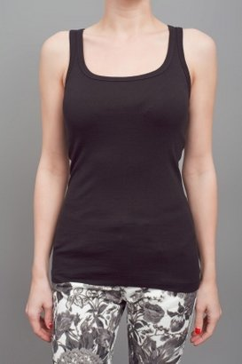 Splendid 1 by 1 Finely Ribbed Layering Tank Black