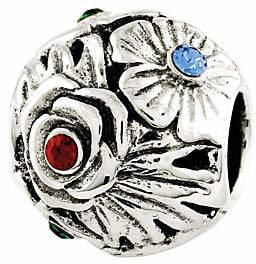 Prerogatives Sterling Swarovski Crystal FlowerBead $32 thestylecure.com