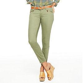 C. Wonder Stretch Zip Skinny Jean