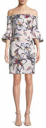 Laundry by Shelli Segal Floral Off-The-Shoulder Cocktail Dress