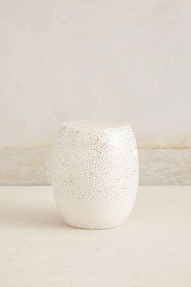 Anthropologie Crushed Eggshell Side Table