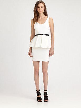 Alice + Olivia Moira Sleeveless Peplum Dress