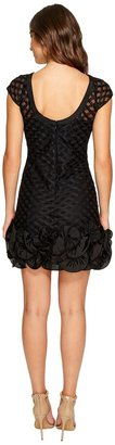 Jessica Simpson S/S Lace Dress w/ Feather Hem Women's Dress