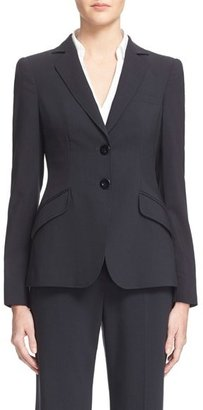 Women's Armani Collezioni Two-Button Featherweight Wool Jacket $1,295 thestylecure.com
