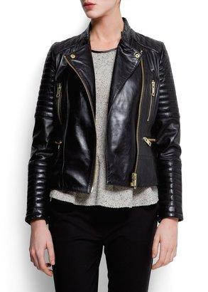 MANGO Lleather biker jacket