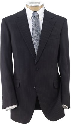 Jos. A. Bank Executive 2-Button Wool Suit with Center Vent and Plain Front Trousers