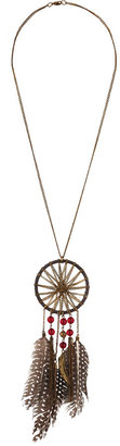Forever 21 Chained Dreamcatcher Necklace