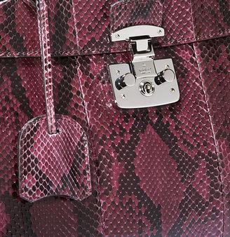 Gucci Lady Lock Python Top Handle Bag