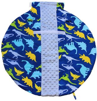 Itzy ritzy wrap & roll infant carrier arm pad & tummy time mat - dino-mite