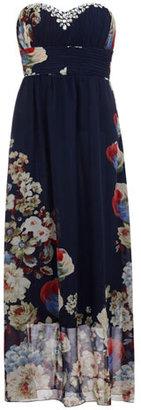 Dorothy Perkins Navy/multi floral print maxi