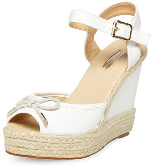 Dorothy Perkins White bow espadrille wedges