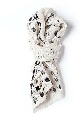 Lee Coren Eclectic Silk Scarf Black Foil