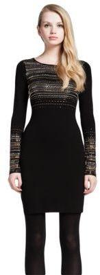 Cynthia Steffe Metallic Beaded Dress