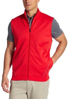 PGA Tour Men's Tech Fleece Full Zip Vest with Reflective