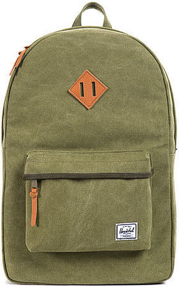 Herschel Supply The Heritage Backpack in Washed Army Canvas